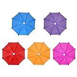 NUOBESTY 5 Piezas Mini Paraguas Decoración de Jardín Ornamento Colgante Accesorios Decorativos Niños Niños Juguete Color Sólido Color Aleatorio