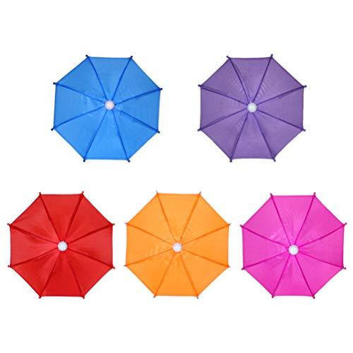 NUOBESTY - 5 paraguas para jardín, decoración colgante para niños, juguete sólido, color aleatorio