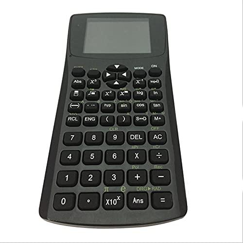 XUSHI Calculadora de Texto Lectura Memoria Almacenamiento Auxiliar Ingeniería Contabilidad Auxiliar Calculadora financiera (Color : Black)