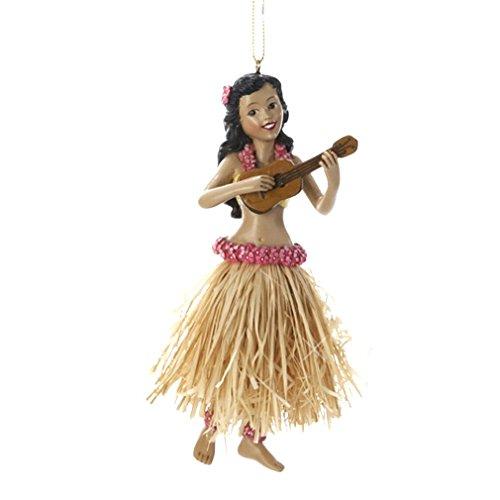 Kurt Adler Hula Girl Christmas Ornament- Hawaii Ukulele Dancing Girl