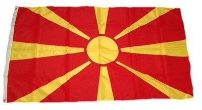 Flagge Fahne Mazedonien 90 x 150 cm FLAGGENMAE®