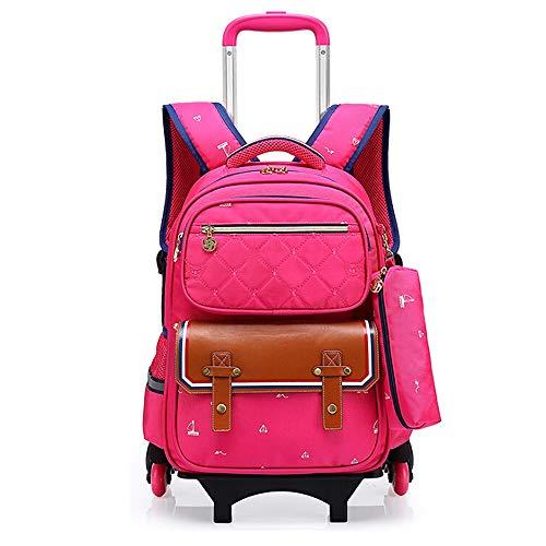 vafany Mochila enrollable escolar con ruedas desmontables para equipaje, mochila para la...