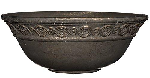 Corinthian Bowl 12' Planter, Oil Rubbed Bronze