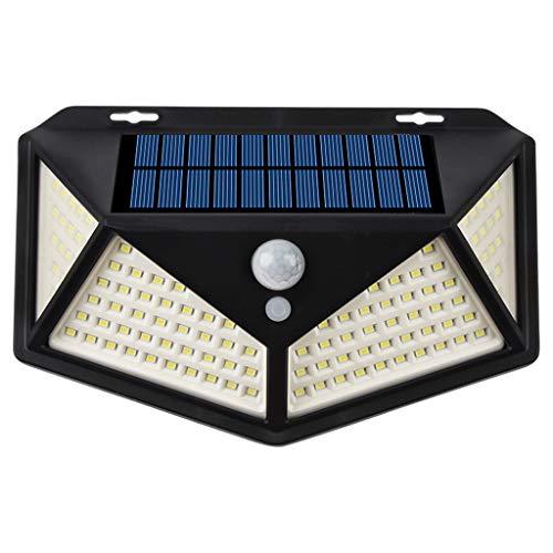 YS&VV Solar LED wandlamp, buiten waterdichte wandlamp met bewegingssensor, groothoekverlichting 3 modus, voor terrassen, tuinen, garages