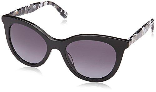 BOSS Orange BO 0310/S 9O 80S 51 Gafas de sol, Negro (Black White/Grey Sf), Mujer