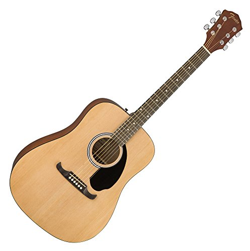 Fender 0961210121 FA-125 Dreadnought Acoustic Guitar, Natural w/ Gig Bag
