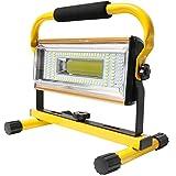 Orchidtent LED Luz de Trabajo USB recargable 100W, Foco LED Trabajo Recargable 7000 lumenes, 6 Modos, Portátil Luz de...