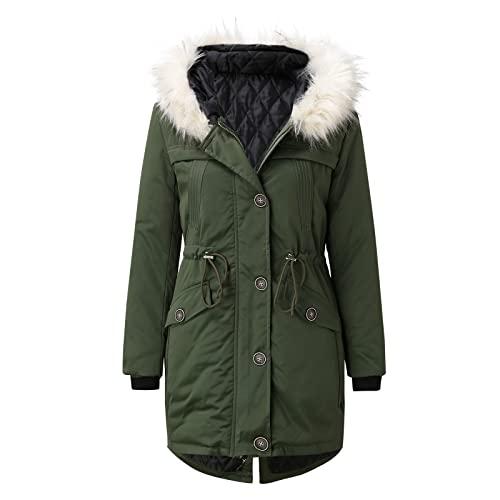 Abrigo de plumas para mujer de gran tamaño, invierno, con capucha, de algodón, ligero, plegable, cortavientos, chaqueta acolchada, con bolsillo con cremallera