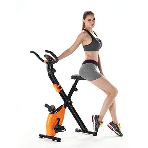 KANJJ-YU Las bicicletas de ejercicio vertical de dos vías plegable Con Mobile Phone Box control magnético de Inicio ultra silencioso de bicicleta de ejercicios de fitness Peso del equipo Pedal Pérdida