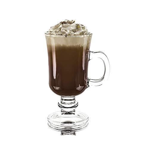 Hjj Transparante Ierse glazen koffieschaal, speciale hittebestendige verdikte glazen theekopjes, voor bier, sap, dranken, cappuccino, espresso