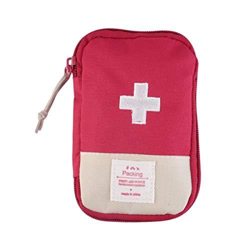 Exceart Mini-Erste-Hilfe-Kasten für Notfälle zu Hause im Freien Auto Camping Arbeitsplatz Wandern Überleben (Rot)