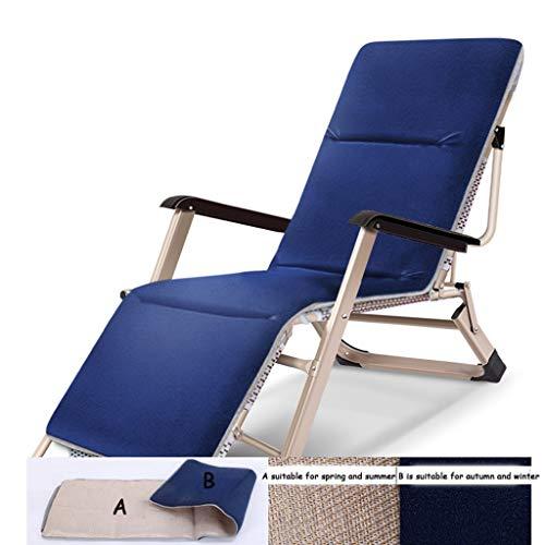 Fauteuil de salon Zero Gravity Fauteuils inclinables de patio Fauteuil de terrasse Fauteuil inclinable réglable avec porte-gobelet et repose-tête (Couleur : Chair+cushion a)