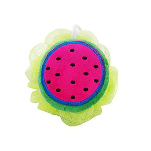 Greatangle Couleur Fruits Style Baignoire Boule Baignoires Laveur Douche Corps Nettoyage Boule Douche Lavage Nylon Maille Accessoires De Bain rose rou