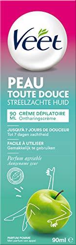 Veet - Crème Dépilatoire Parfum Pomme - 90ml - lot de 3 crèmes