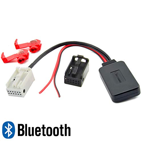 Watermark Bluetooth Adapter passend für BMW E87 E46 E90 E91 E60 E61 E63 E64 X1 X3 X5 Z4 MP3 Musik Streaming Nachrüstung Android IOS