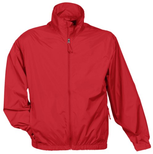 Tri-Mountain Men's Lightweight Water Resistant Jacket Red