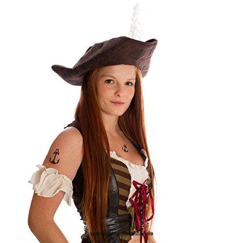 Anker Tattoo groot - Marine Anker Tattoo - nautisch anker - Anker Mottopfeest - Anchor