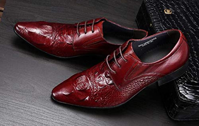 LOVDRAM herrar läder skor Luxury Genuine läder läder läder Lace Up Mann's Dress skor Formal Party Office Man bspringaaa svart Oxfords Rubber Sole  fri frakt och utbyte.