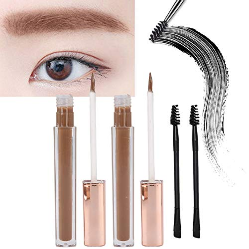 2 Stück Augenbrauengel für lang anhaltendes Make-up Augenbrauentönung Gel Dye Kit Liquid Brow Fast Sculpt mit Pinsel(4#)