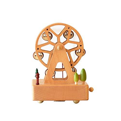 Sebasty Cuadrado Noria Caja De Música De Madera Mecanismo De Cuerda Mecanismo Haya Niños Artesanía Regalos Creativos Regalo De Cumpleaños Música Pura