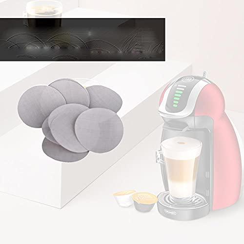 5 uds., Malla de filtro compatible con metal de grado alimenticio, diámetro de 35 MM, acero inoxidable, recarga, cápsula, e-predeterminado