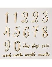 O-Life ベビー 月齢フォト ニューボーンフォト マンスリーカード 19枚セット 木製レターバナー 記念日フォト 月齢カード 撮影道具 記念写真 出産祝い 成長記録 プレゼント 寝相アート 女の子 男の子