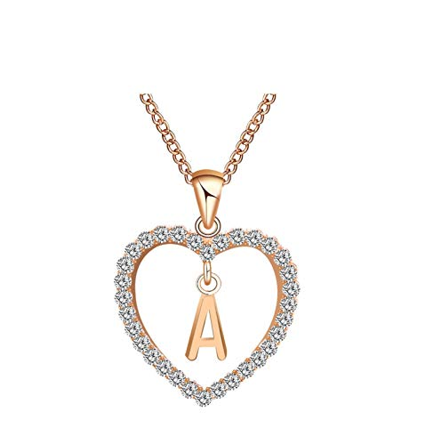 (80% OFF Coupon) Heart Initial Necklace $2.60
