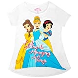 Disney Princesas Muchachas Hacen Cosas asombrosas Juventud Camiseta Blanca 8/10