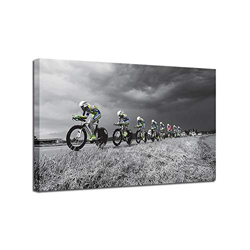Canvas Schilderijen Muur Art HD Prints 1 Stuk/Stks Cross-Country Fiets Posters Mountain Fiets Foto's Sport Home Decor Frame 60x90cmx1 unframed