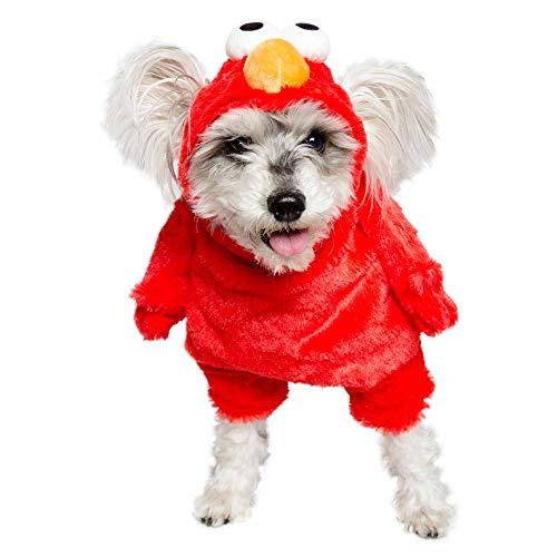 Pet Krewe Sesame Street Elmo - Disfraz de Perro (tamao Grande)