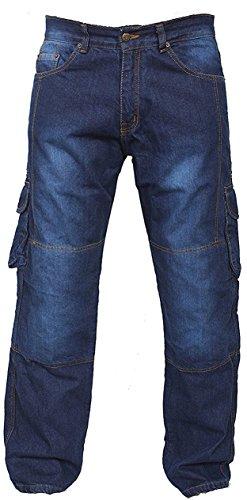 newfacelook Bleu Motorradhose Rüstungen Jeans Hose Verstärkte von Aramid Schutzauskleidung
