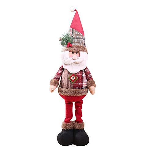 Childlike Muñeco Colgante de Navidad, Navidad Sentado Papá Noel Muñeco de Nieve Reno Piernas largas Mesa...
