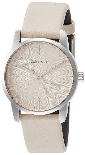 Calvin Klein Damen Analog Quarz Uhr mit Leder Armband K2G231XH