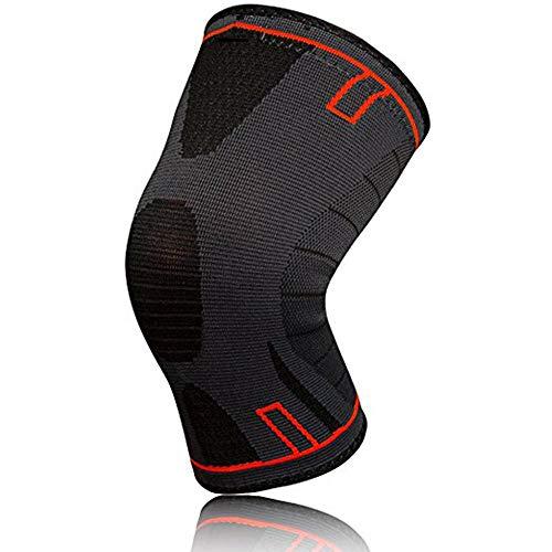 2 x Kniebandage für Damen & Männer | Zum Schutz von Meniskus & Knie | Elastische atmungsaktiv Knieschoner mit Kompression für mehr Stabilität beim Sport und im Alltag | Knieschützer (4XL)