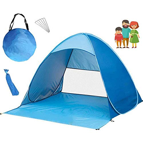 FEEE-ZC Havon Beach Tent LPop up Tent Camping Sun Shelter Sombra de Playa instantánea Anti UV para 2-3 Personas Azul
