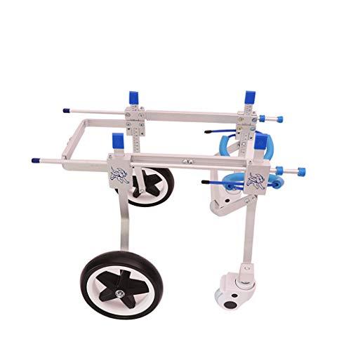 NIUYUANNN Einstellbarer Haustier Rollstuhl Hunderollstuhl behinderter Haustierrollerhundeunterstützungsrahmen-Erholungswagen 4 justierbarer Rollstuhl des Rades Hinterbein Rollstuhl (Size : XSWiden)