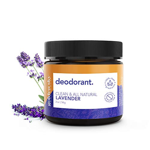 Golden Sky Naturals All Natural Deodorant Cream with Lavender Essential Oil for Sensitive Skin, Deodorant without Aluminum and Parabens, 2 ounce