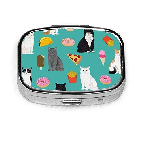 Cats Junk Food Donut Pizza Portapillole Custodia per...