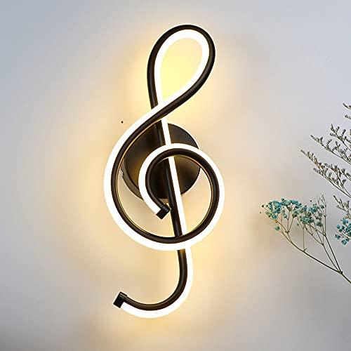 boaber Wall lamps LED Wall Sconces, Musik Note Vägglampa, Vägglampor för sovrum, matsal, vardagsrum, hotell Wall lamps