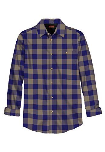 Boulder Creek by Kingsize Men's Big & Tall Flannel Shirt - Big - XL, Navy Buffalo Check