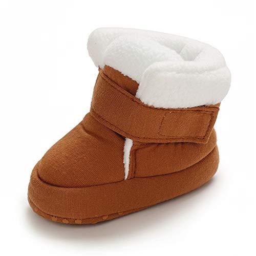 MASOCIO Botas de Bebé Niña Niño Invierno Botitas Recién Nacido Algodón Calentar Zapatos con Suela Suave