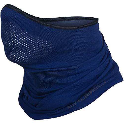 BRUBECK X-Pro Halbe Sturmhaube | Herren | Damen | Klimaregulierend | Gesichtsmaske | Sturmmaske | Funktionskleidung | Atmungsaktiv | Anti-allergisch | Antibakteriell (Dunkelblau, S - M)