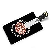 MOTLEY CRUE モトリー クルー ロゴ カードタイプUSBフラッシュドライブ、コンピューター/ラップトップ用のメモリースティック、映画/写真/ドキュメント/音楽32G、64G用のサムドライブデータストレージ