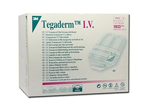 3M TegadermTM IV - 7 x 8,5 cm, steriele film van polyurethaan, met rand van TNT voor naalden, kanula, 100 stuks