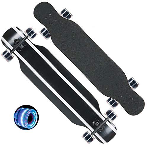 Find Bargain Longboard Skateboard, 46 Inches 7 Layer Maple Wood Pro Skate Board for Beginners Kids B...