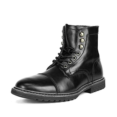 Bruno Marc Men's Philly_11 Black Dress Combat Motorcycle Oxfords Chukka Boots Size 11 M US