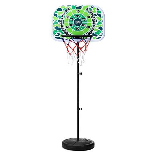 Basketbalstandaard voor kinderen Multifunctionele Kinderen basketball Hoop kan tillen 3-6 Years Old Boy Toy Outdoor Basketball Hoop Buitenspeelgoed Balspellen (Color : Black, Size : One size)