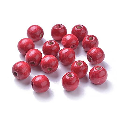 Red Round Wood Beads