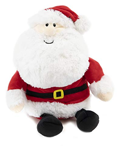 Gitzy Sitting Squishy Santa - Christmas Stuffed Animal - Santa Claus Plush Doll - Soft, Festive Plushie for Adults and Kids - Holiday Toys | 12.5""