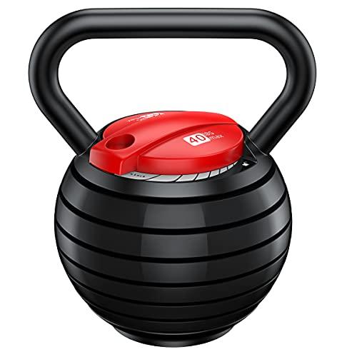 QYLS Kettlebell,Adjustable Kettlebell Set,Strength Training Kettlebells 10 15 20 25 30 35 40 Lb,Great Assistant for Home Office Fitness.